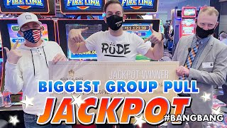 🔥 BIGGEST JACKPOT EVER in a GROUP SLOT PULL! 🔥 #BANGBANG