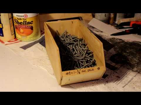 DIY Fastener Bin (FREE PLANS)