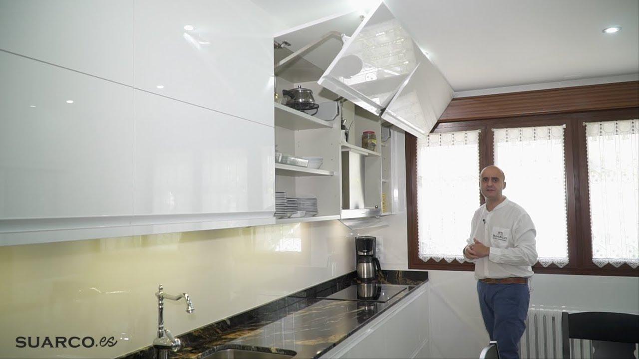 Cocina moderna grande blanca !! ENCIMERA Y MESA INCREIBLE!! sin ...