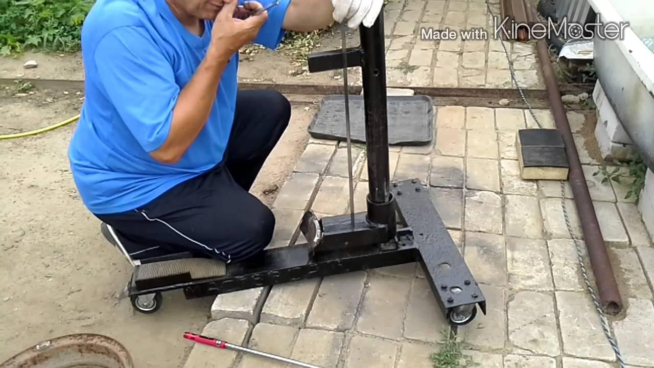 Самодельный шиномонтажный станок своими руками видео фото 214