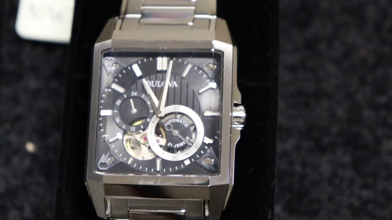 9e0c0a3e1 Bulova 96A194 Men's Automatic Silver-Tone Automatic Watch #Bulova #Watches  @Purchase_Direct
