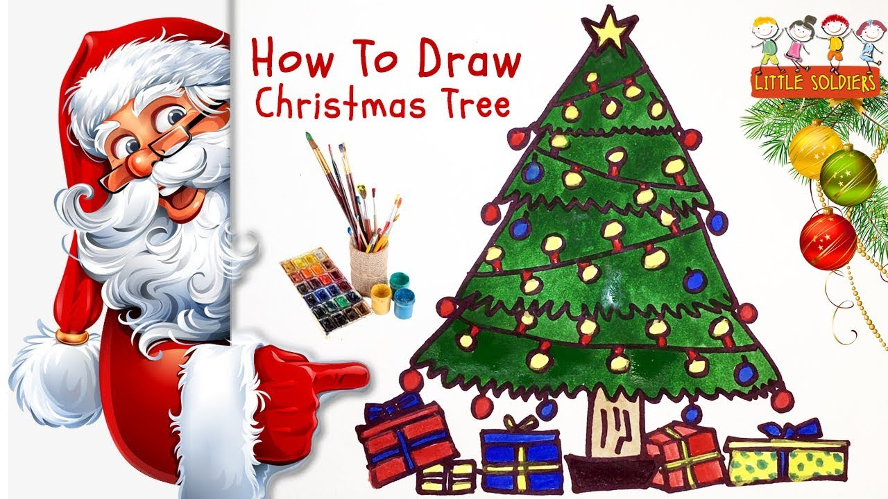 2017 Christmas Tree For Children | How to Draw ChristmasTree ...