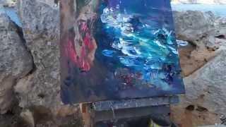 DANIEL CODORNIU painting in ES PONTAS VIEWPOINT(Mallorca, August 2013)