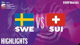 Sweden vs. Switzerland - Game Highlights - #IIHFWorlds 2019