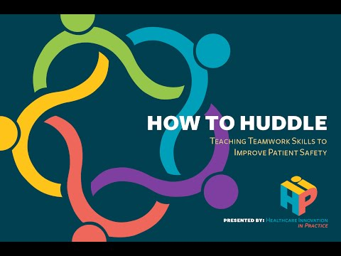 HOW TO HUDDLE