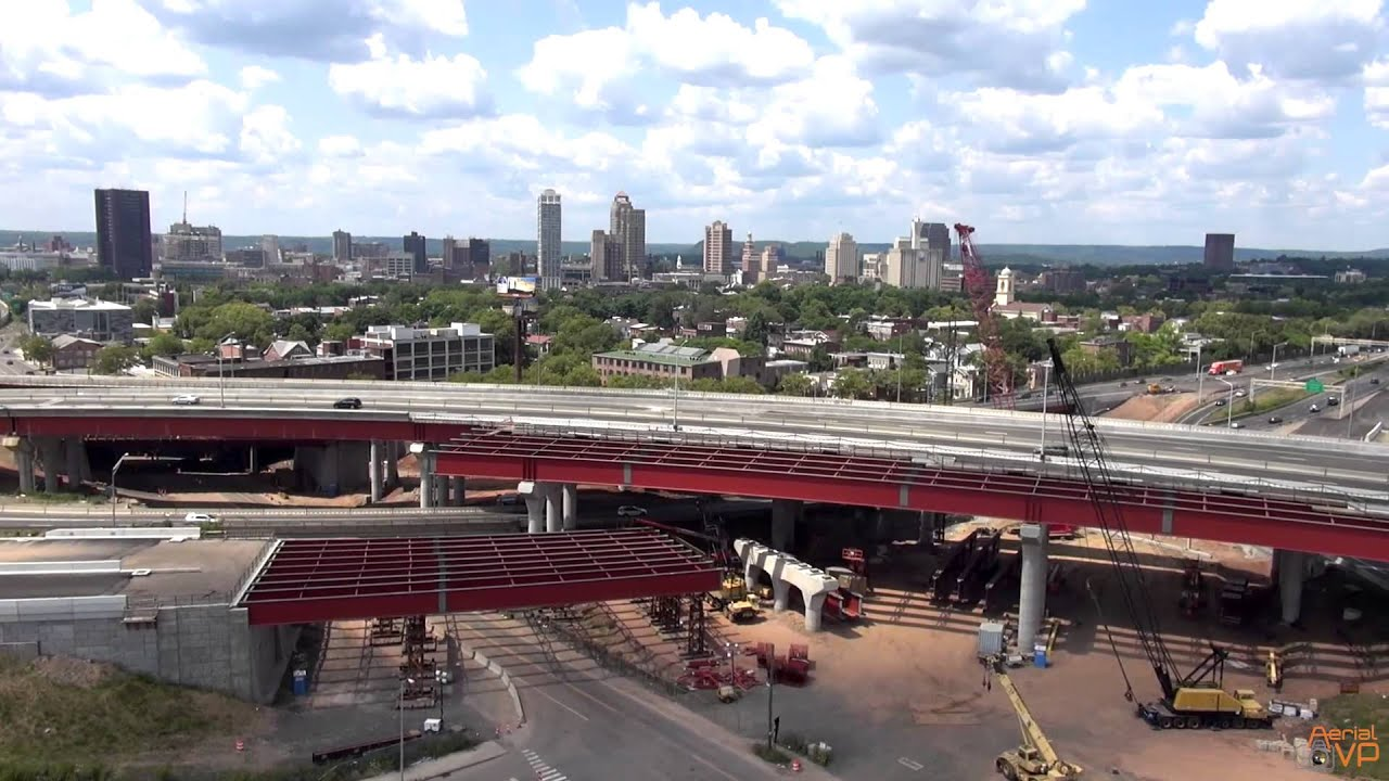 Aerial Veiw I 95 Construction New Haven Ct Youtube