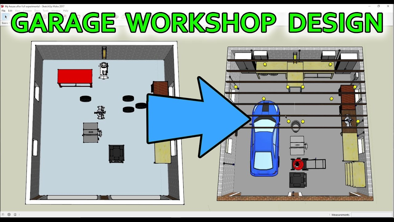 How I Used SketchUp to Design My GarageWorkshop YouTube