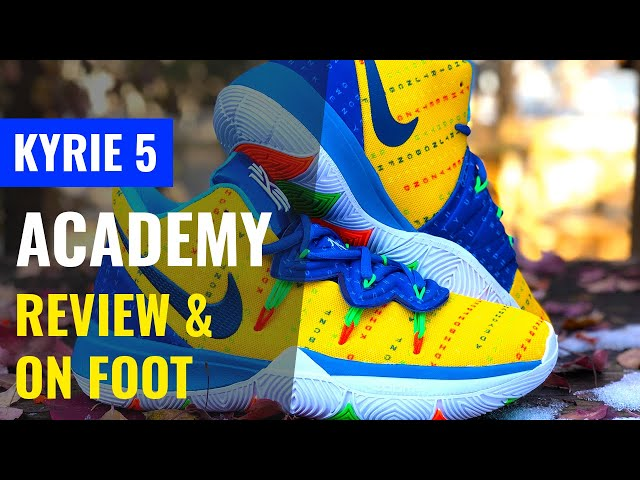 KYRIE 5 ACADEMY REVIEW AND ON FOOT IN