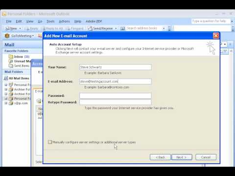 Microsoft Outlook 2007 Email Account Setup - PD-go! Web Solutions