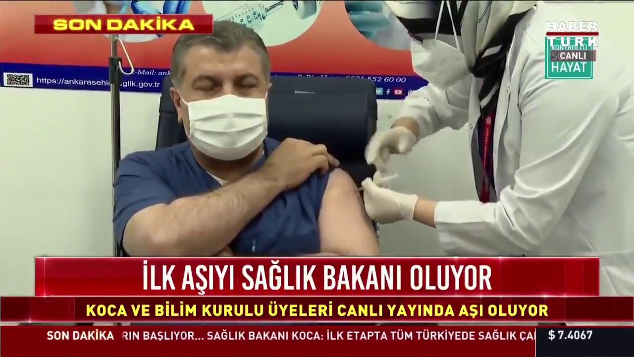Download İlk aşıyı canlı yayında Sağlık Bakanı Fahrettin Koca oldu