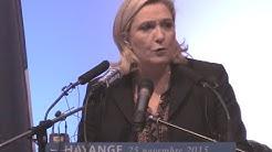 Discours de Marine Le Pen à Hayange (25 novembre)