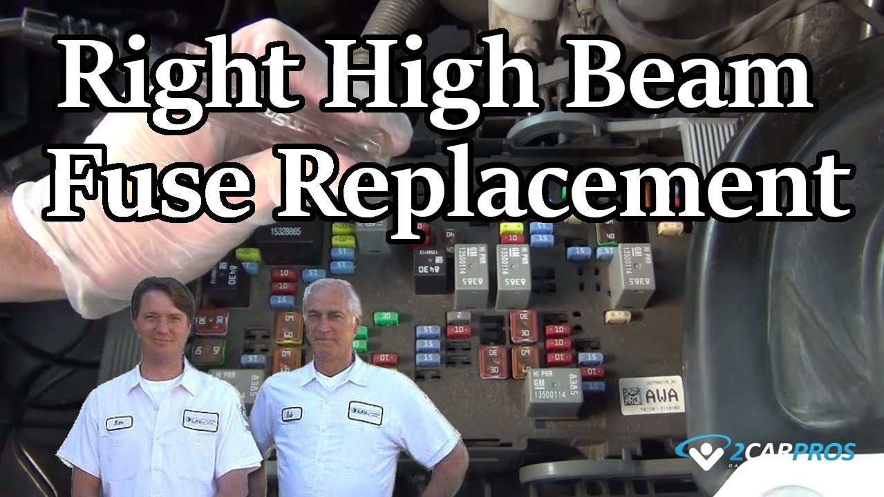Right High Beam Fuse Replacement