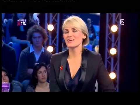 Judith Godrèche  On n'est pas couché 27 mars 2010 ONPC
