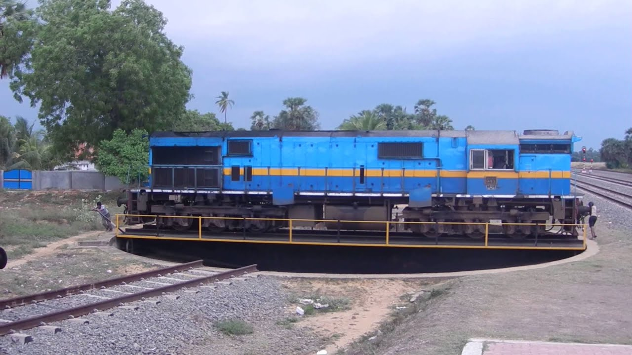 Manual locomotive turntable in sri lanka