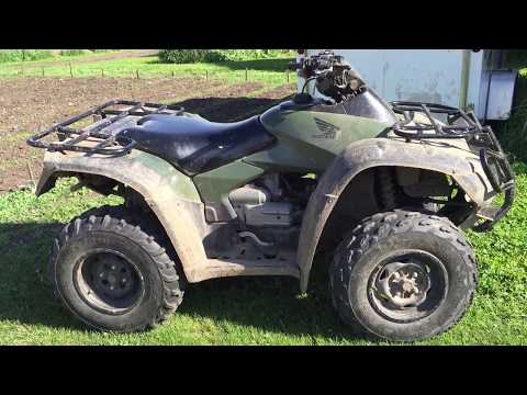 Honda Rincon ATV 650cc 2003 Cold Start