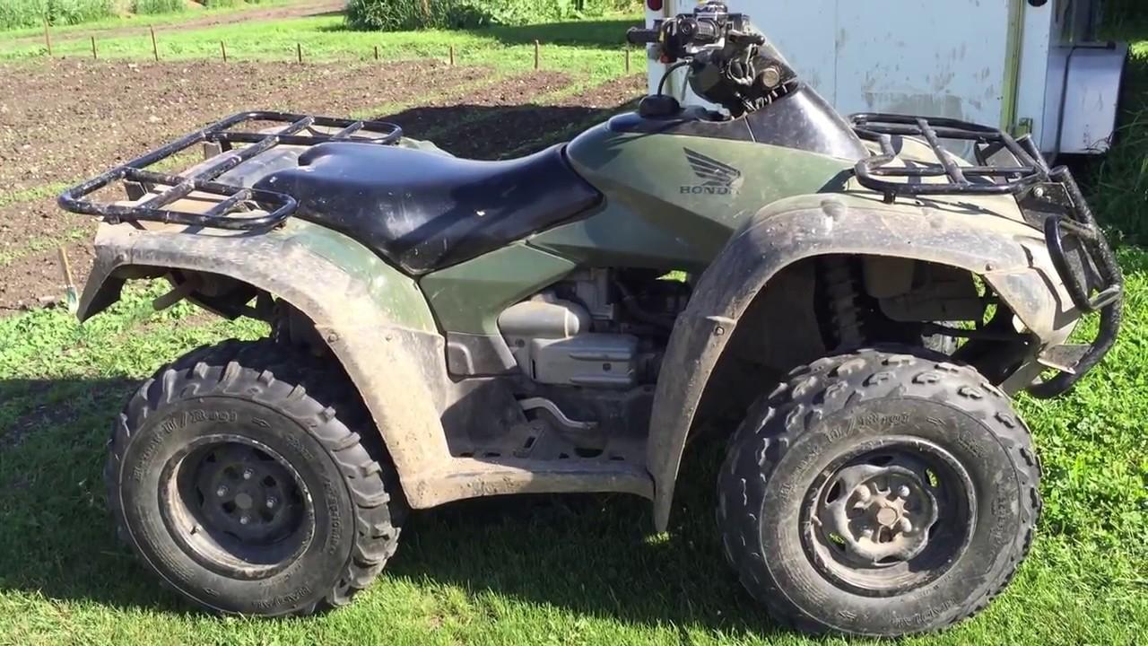 Honda Rincon ATV 650cc 2003 Cold Start