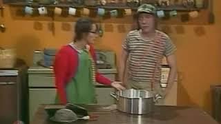 El Chavo Y La Chilindrina Haciendo El Pastel Del Profesor Jirafales