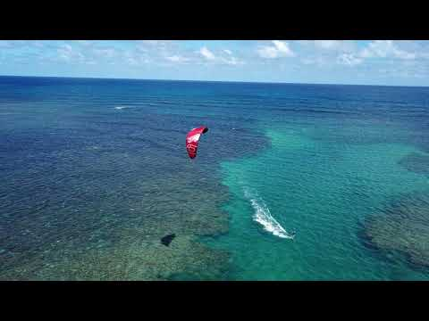 Ozoneii - kiteboarding Kauai, Anini Beach, DJI Mavic