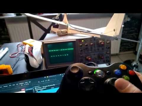 RC Plane controlled by Arduino and Xbox 360 controller - YouTube