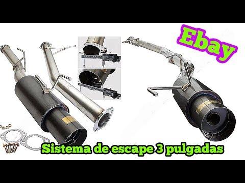 Sistema de escape 3 pulgadas de ebay gun metal grey godsnow