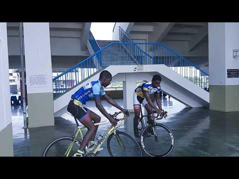 Antigua & Barbuda Junior Cyclists having fun