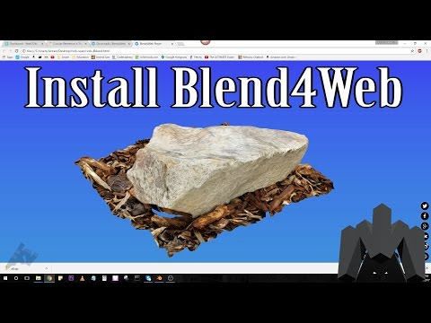 Install Blend4Web Add-on And Export To HTML