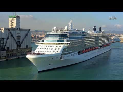 Celebrity Reflection Sailaway Port of Barcelona | 13.10.2017 | 4K