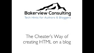 The Cheater's Way of creating HTML using a blog Mp3