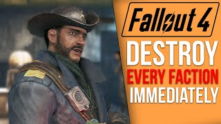 What Really Happens if You DESTROY Every Faction Immediately in Fallout 4?