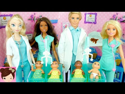 Thumbnail: New Barbie Baby Doctor - Dr. Elsa & Anna Take Care of Babies at Hospital Playset