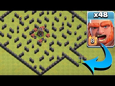 "Thumbnail: ""THE MINI MAZE BASE""🔸GIANT TROLL EVENT!!🔸Clash Of Clans"