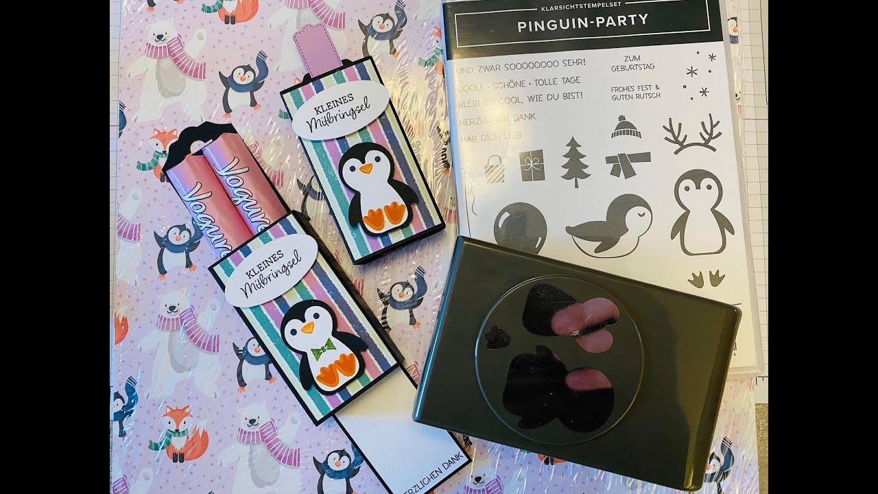Double-Slider Verpackung mit der Pinguin-Party