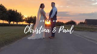 Christina & Paul: Cinematic Wedding Highlights Film - Notley Tythe Barn - 26.6.21