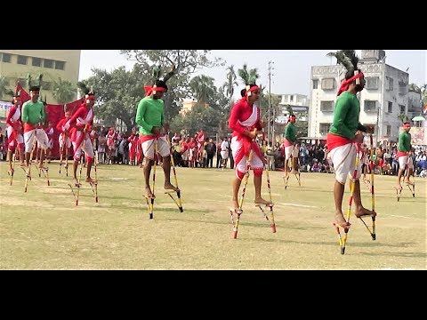 Republic Day 2018 Celebration at Chandannagar | Stilt Dance | রণ-পা নাচ