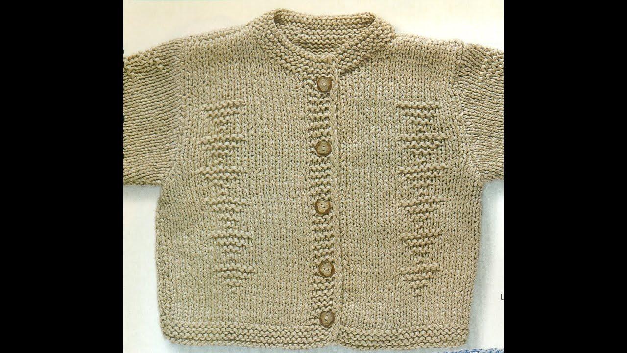 Patrón Para tejer Chaqueta Para Bebé Con Agujas - YouTube