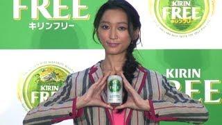モデルの杏さん(25)と歌手の山崎まさよしさん(40)が、キリンの...