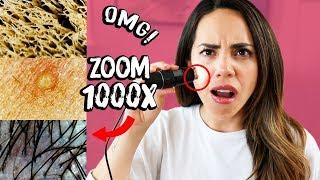 COMO SE VE MI PIEL MAQUILLADA BAJO UN MICROSCOPIO! | What The Chic