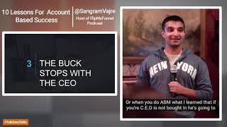 "NYMUG - New York Marketo User Group: ""I Heart ABM"" with Sangram Vajre"
