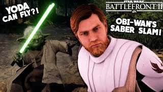 Star Wars Battlefront 2 - 5 Incredible Hero Secrets You NEED to Know! Yoda's Flight?!