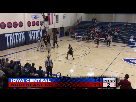 Great Western Shootout Men's Basketball:  Iowa Central vs Northeast Community College (12/02/2017)
