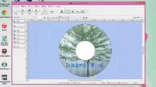 家庭で作成したDVDやCDの表面に画像や文字を印刷する方法について説明し...