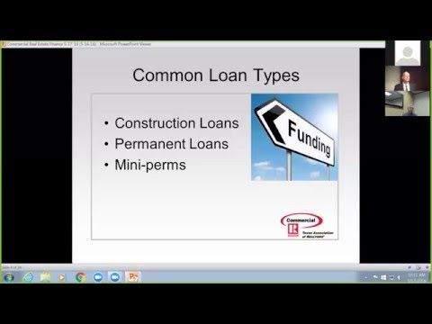 Commercial real estate finance webinar