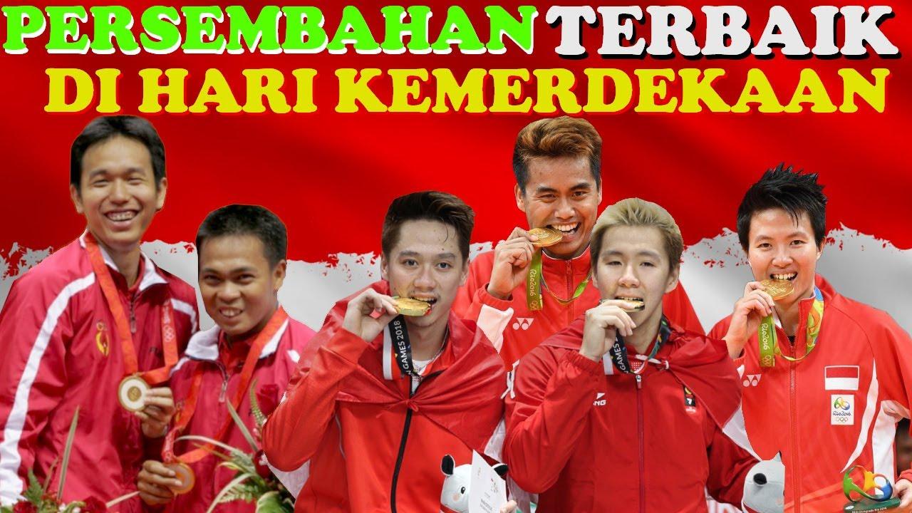 HADIAH TERBAIK..! Pemain Badminton Di Hari Kemerdekaan INDONESIA