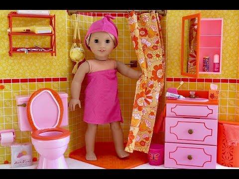 Baby Doll Bathroom for American Girl Dolls!