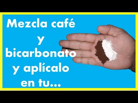 Bicarbonato de sodio y café para el vello no deseado