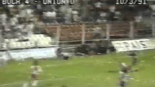 1er. Gol de Latorre a Union (Boca 4-Union 0 08-03-91)