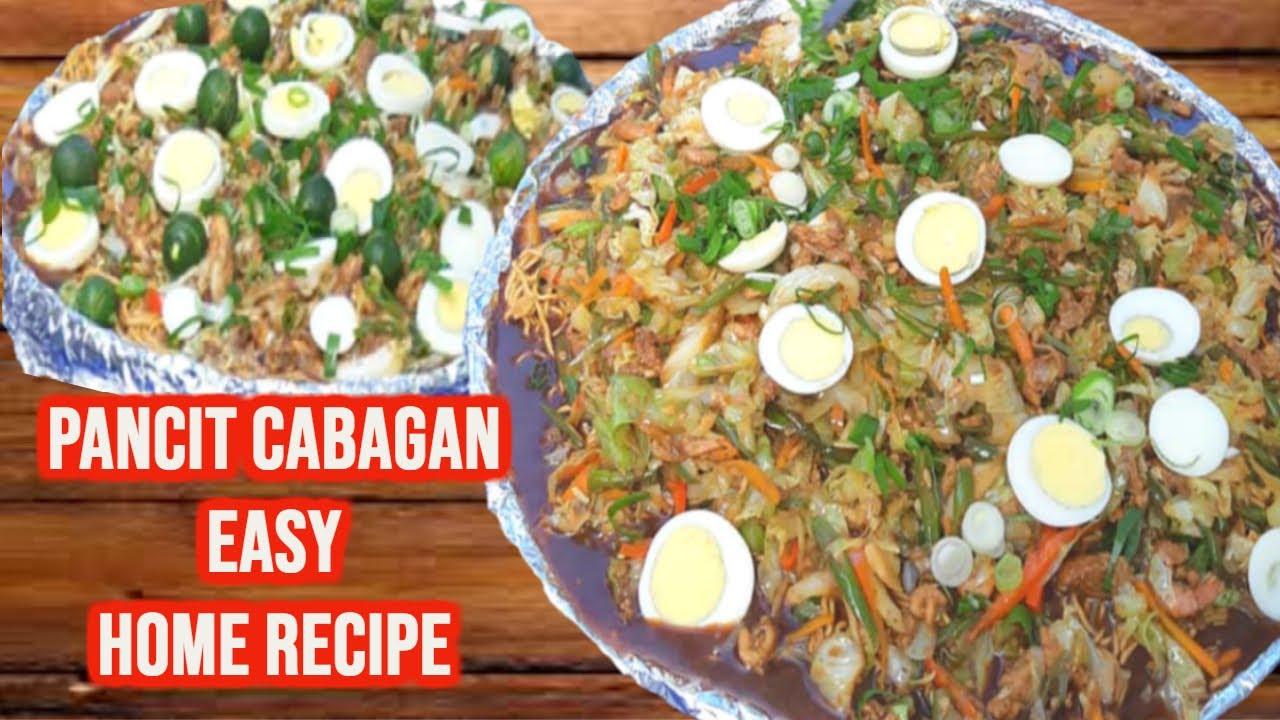 how to cook pancit cabagan video