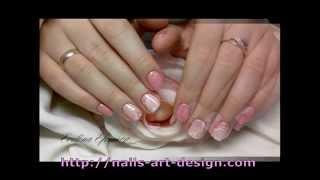 Маникюр с розовым лаком (Manicure with pink nail)