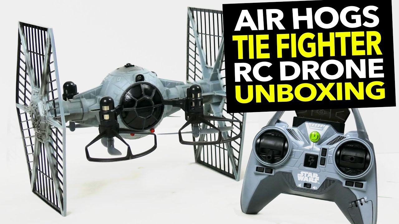 Star Wars Air Hogs Tie Fighter Drone RC Unboxing
