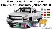 [DIAGRAM_09CH]  Fuse box location and diagrams: Chevrolet Silverado (2007-2013) - YouTube | 2008 Gmc 2500hd Fuse Diagram |  | YouTube